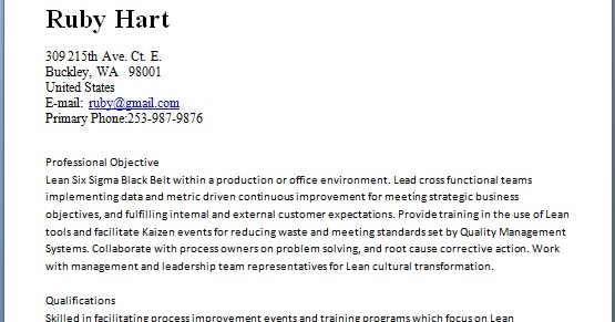 quality engineer and internal auditor sample resume format