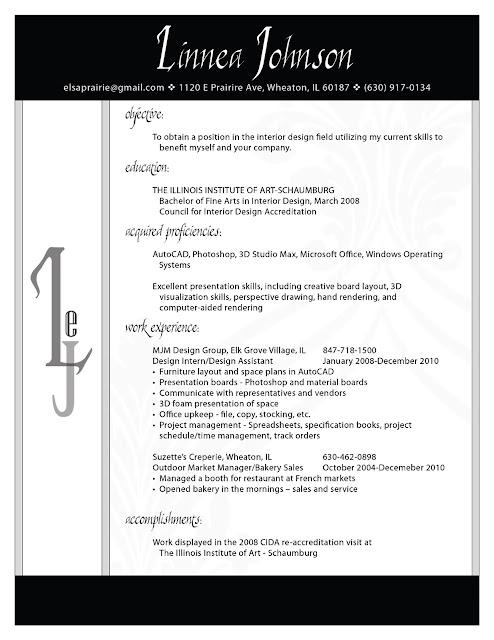 Interior design samples  interior design resume sample interior