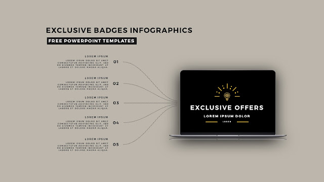 Infographic Badges Free PowerPoint Template for Special Offers Slide 4