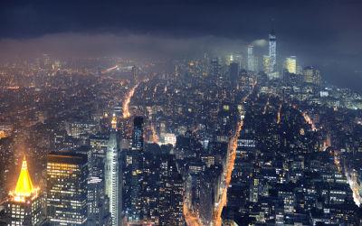 Vue de New York la Nuit - Fond d'écran en Ultra HD 4K 2160p