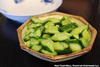 Baby Cucumber in Garlic Sauce at Cafe China