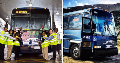 Greyhound bus employees