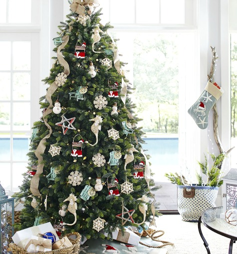 Beach Themed Christmas Ornaments.Sea And Beach Inspired Coastal Christmas Decor Collections