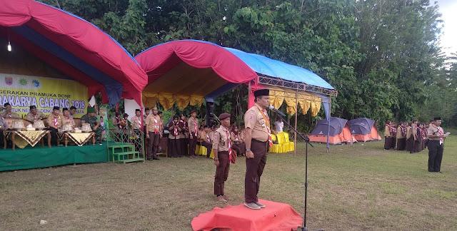 Bupati Bone Terpilih Buka Perkemahan Wirakarya Cabang 2018.