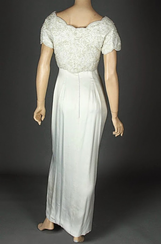 Carrie Four Weddings and a Funeral wedding gown back