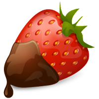 strawberry chocolate fruit icons