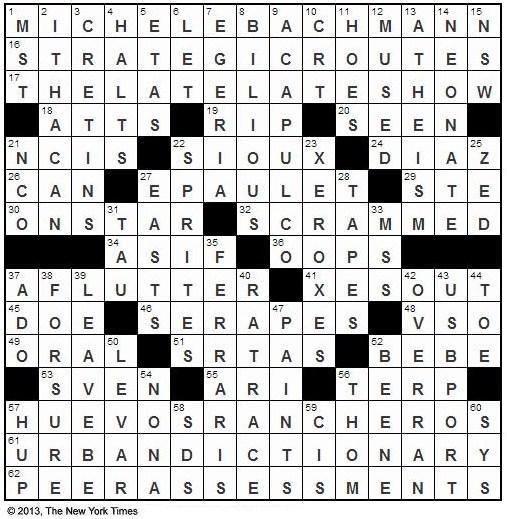 The New York Times Crossword in Gothic: August 2013