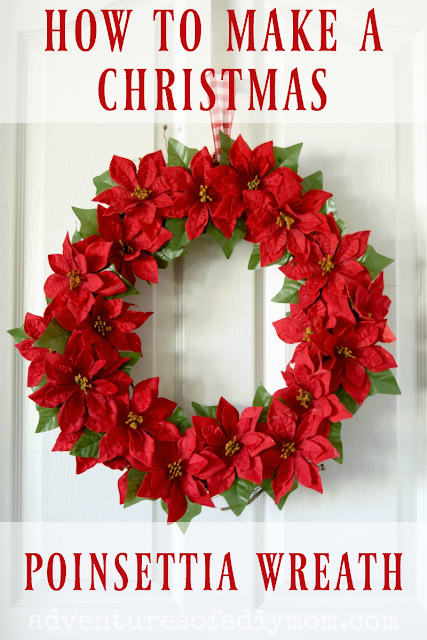 how to make a christmas poinsettia wreath
