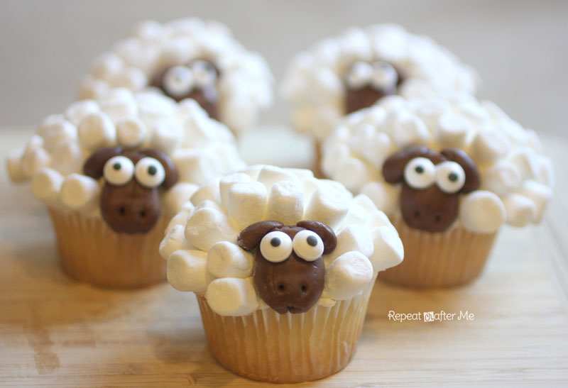Sheep Cupcakes Repeat Crafter Me