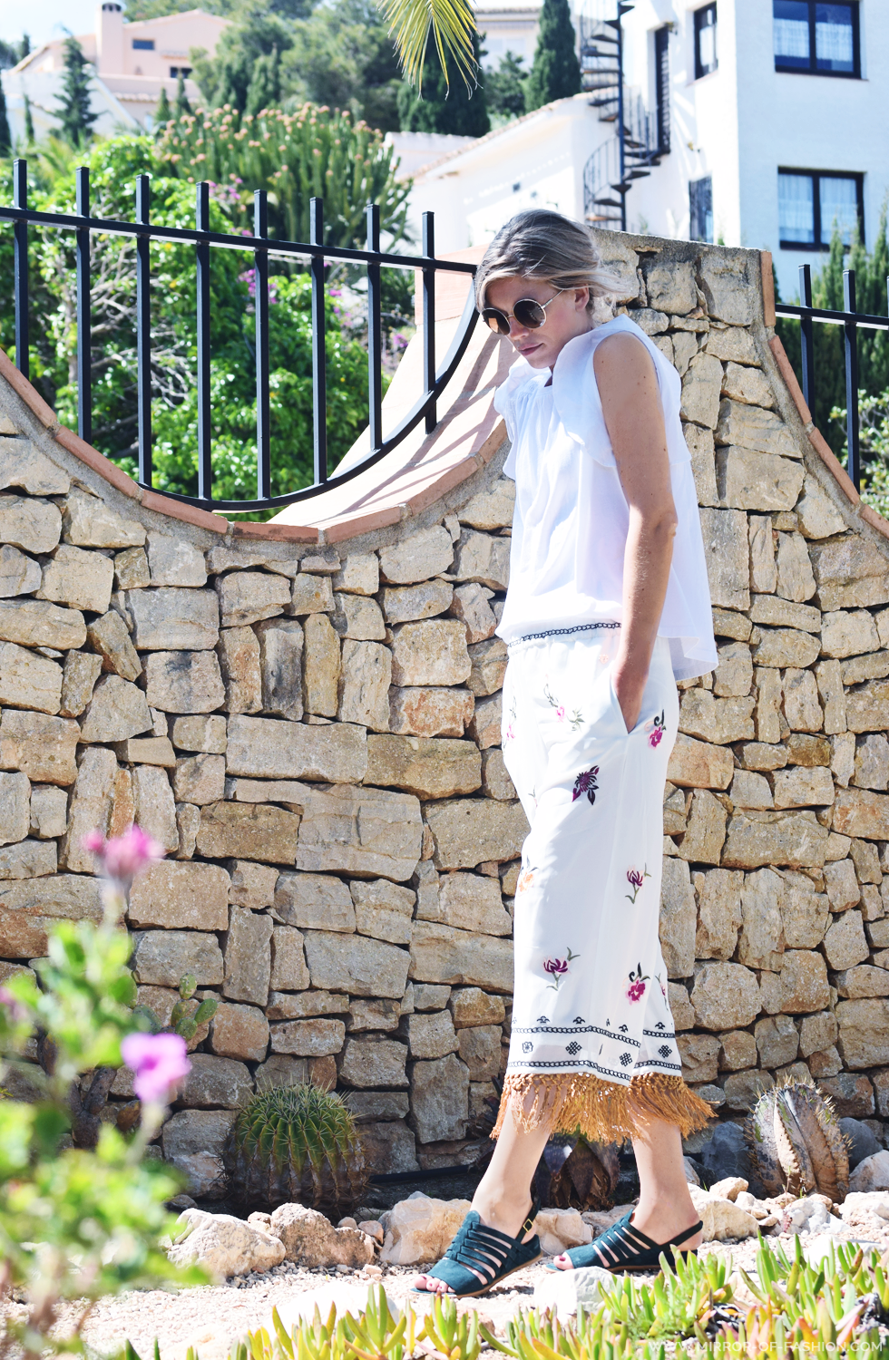 Outfit of the day, Moods, TwinSet, Dries Van Noten, Vanessa Bruno, Chloé, sunglasses, culottes, fashion look, blogger, style