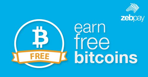 Zebpay Earn Rs 100 Free Bitcoins from Zebpay App Loot Offer