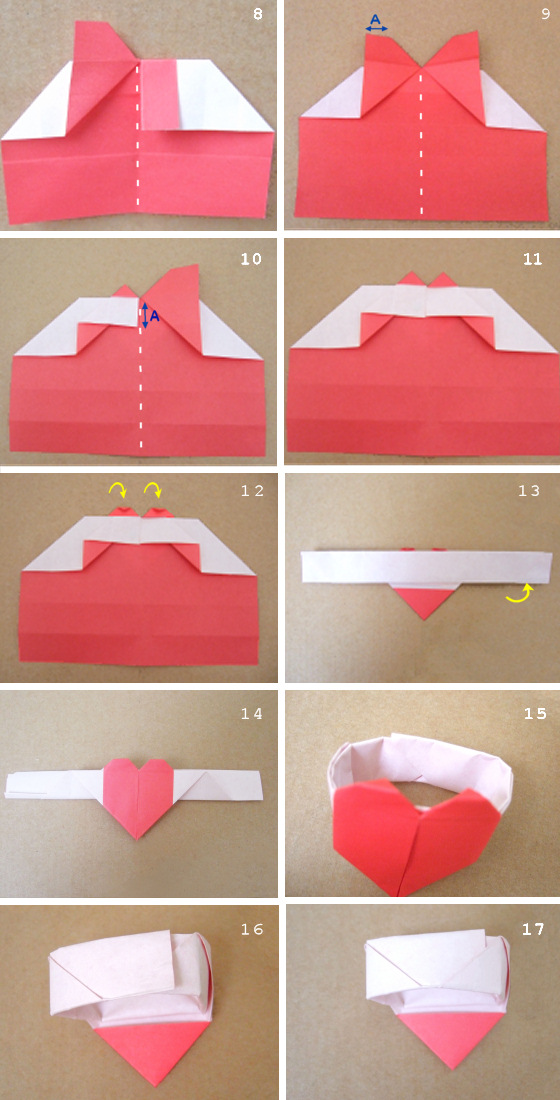 How To Make A Origami Heart Ring