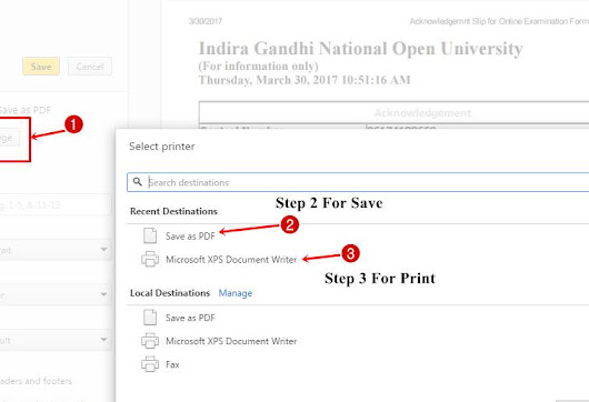 How To Download IGNOU Exam Fee Acknowledgement Slip - Hindi Articles | हिन्दी ब्लॉग