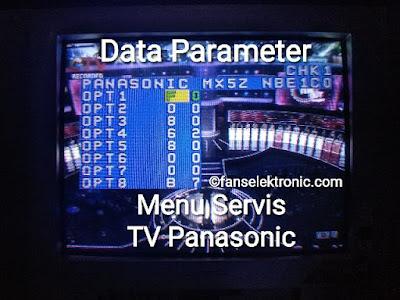 data parameter menu servis tv panasonic