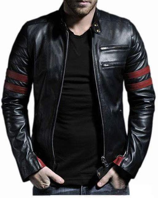 jaket kulit pria casual