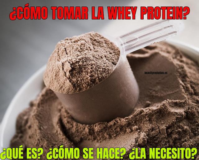 cómo tomar la whey protein
