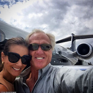 Greg Norman and Kirsten Kutner