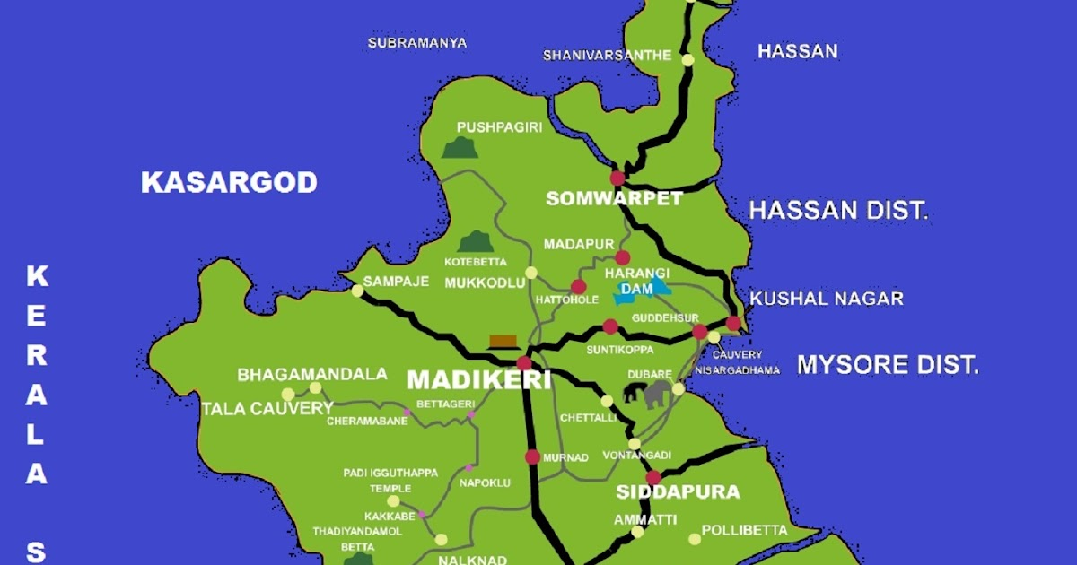 Coorg Tourist Places Map
