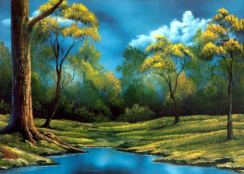 Imágenes Arte Pinturas: PINTURAS : PAISAJES BOB ROSS