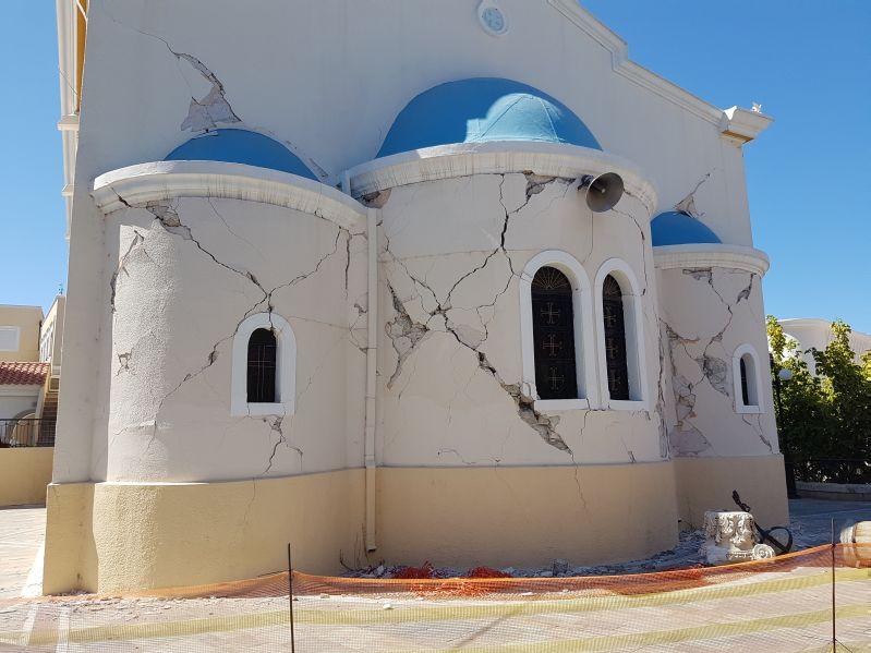 Basilika Agia Paraskevi Kos nach Erdbeben 2017