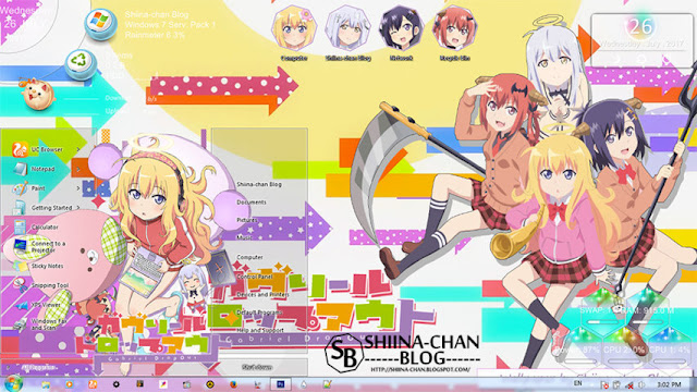 Gabriel DropOut Theme Win 7 by Enji Riz Lazuardi