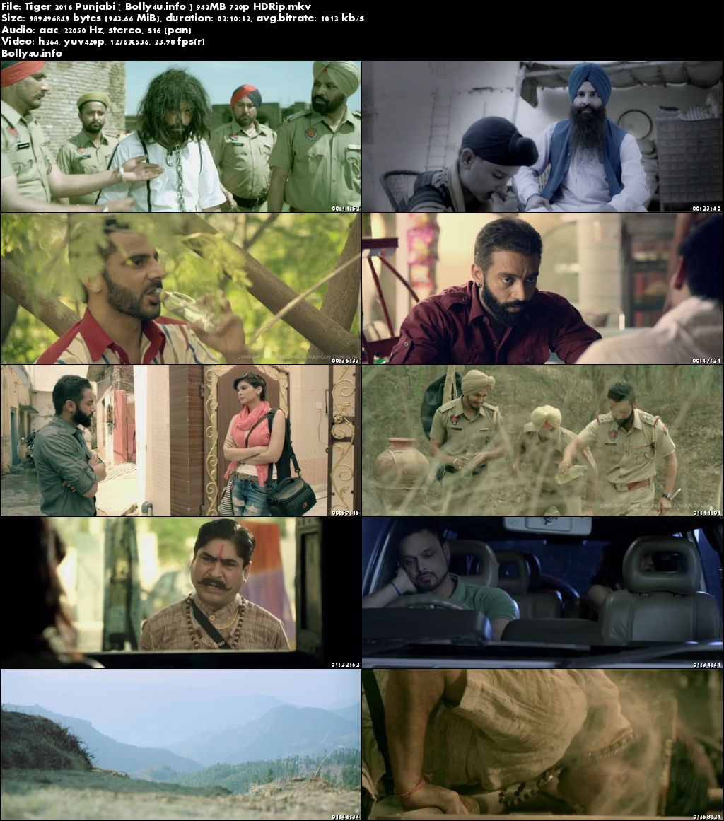 Screen Shoots of Watch Online Tiger 2016 HDRip 350MB Punjabi Movie 480p Free Download Bolly4u.info