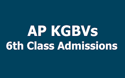 AP KGBV 6th class admissions 2020 - 2021, application form
