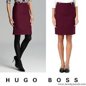 Queen Letizia wore Hugo Boss Valessima Skirt