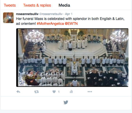 New Liturgical Movement: Mother Angelica's Funeral Mass, the