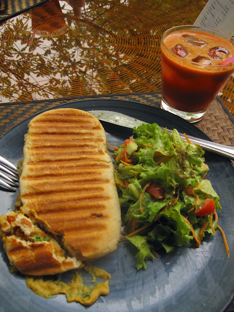 Panini at Peace cafe in Siem Reap, Cambodia
