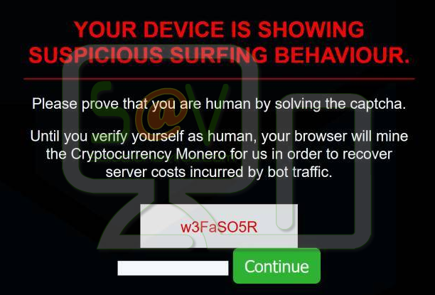 Your device is showing suspicious surfing behavior