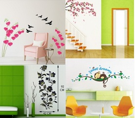 Wall Stickers & Decals for Walls Decoration & Decorative Products upto 92% Off starts Rs.69 – Flipkart