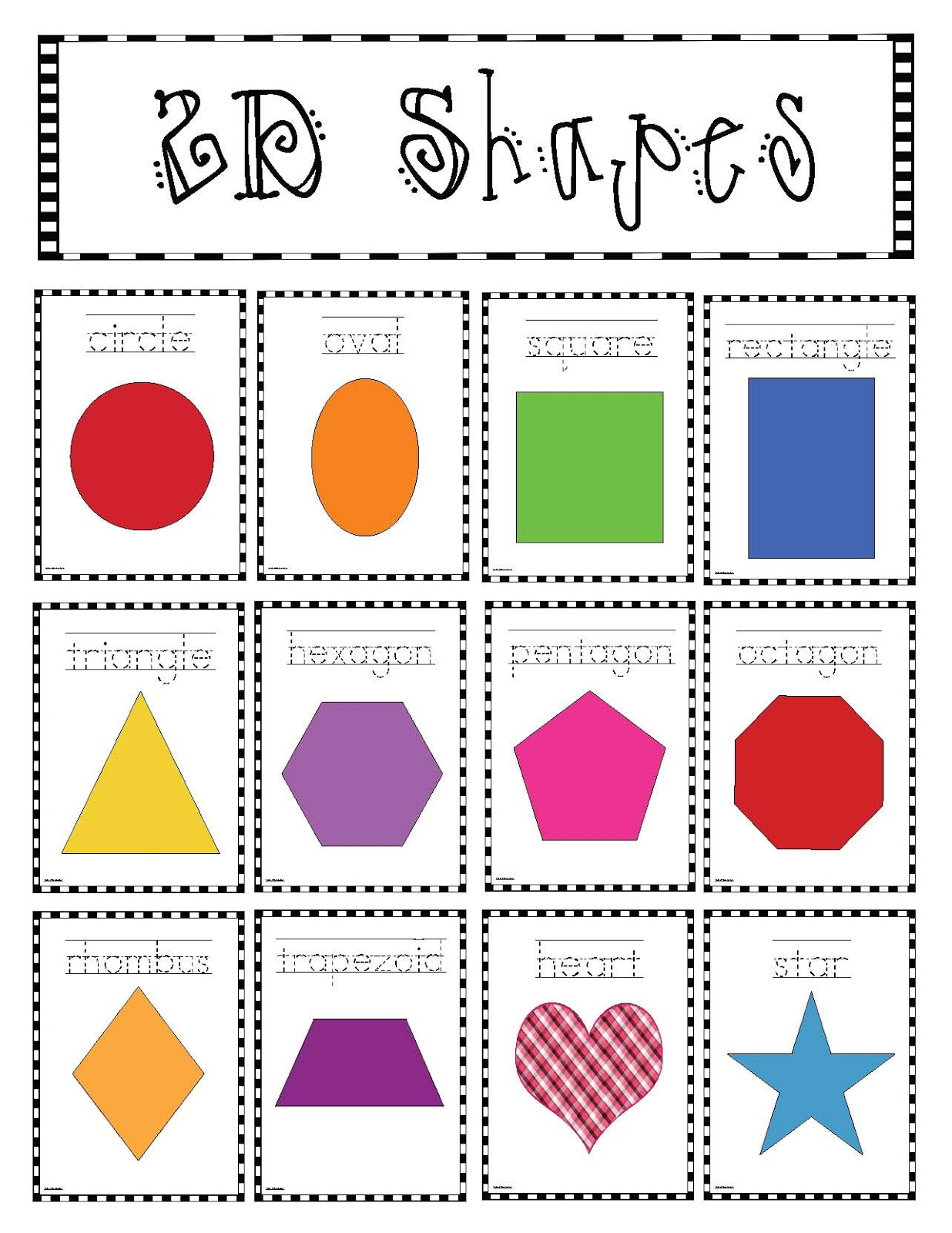Nice Room Colors 2d Shapes Poster Packet Classroom Freebies