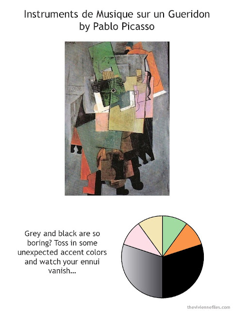 Instruments de Musique by Picasso with style guidelines and color palette