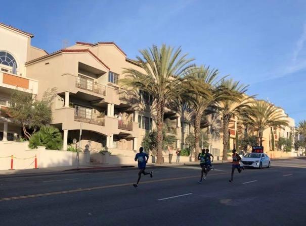 LA Marathon 2018 men leading pack