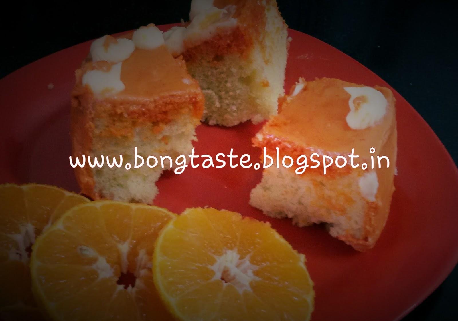 Cake Icing Recipes In Marathi: Bongtaste : ORANGE CAKE WITH ORANGE BUTTER FROSTING