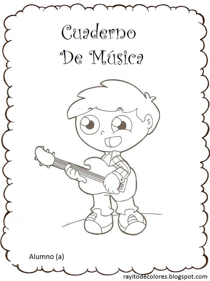 carátula escolar para música