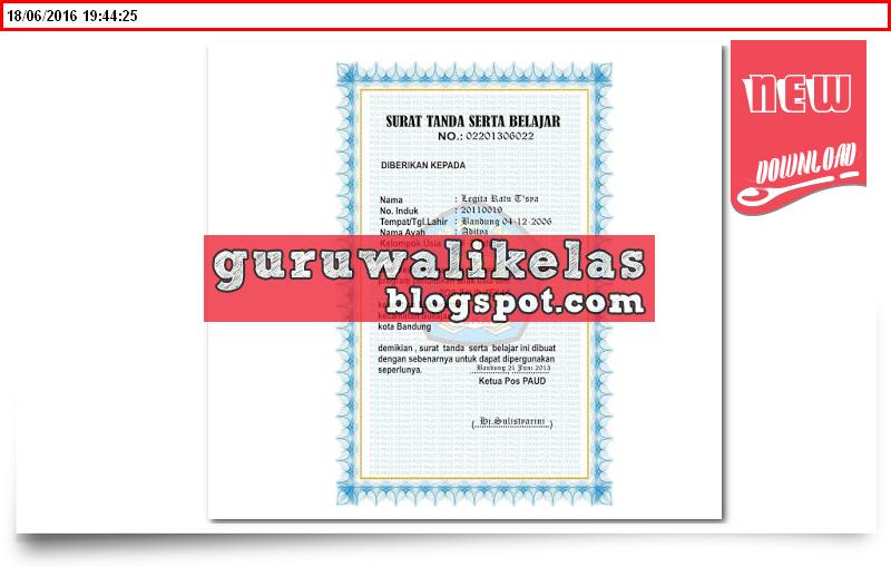 Download Aplikasi Contoh Sertifikat Piagam Ijazah Siswa Anak Paud