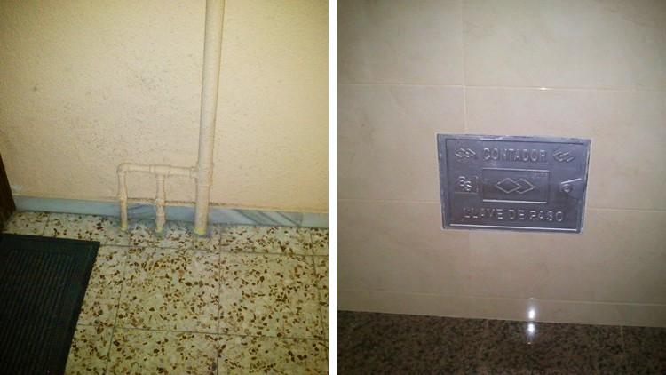 proyecto obra reforma portal contadores electricidad agua - individual
