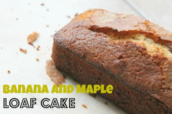 Banana and Maple Syrup Loaf Cake