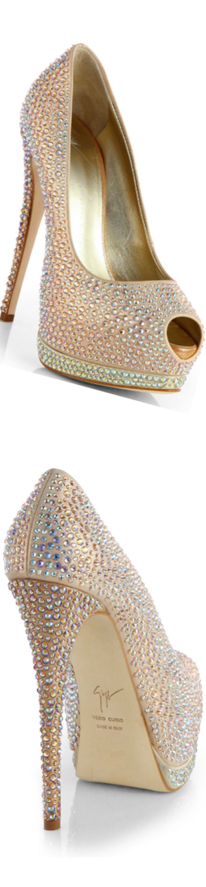 Giuseppe Zanotti Jeweled Satin Pumps