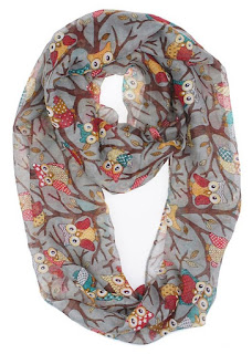 owls infinity scarf for teachers