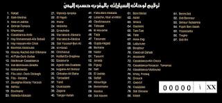 أرقام السيارات بالمغرب