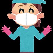 掃除の格好のイラスト「マスクとゴム手袋」