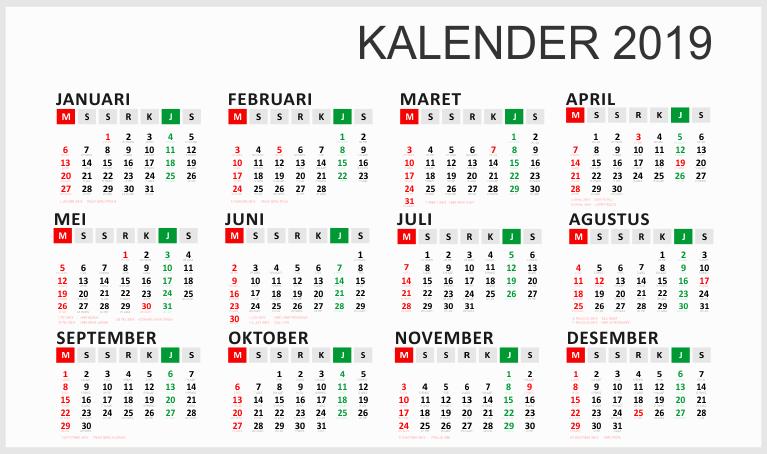 Kalender Indonesia 2020: Download Desain Kalender Dinding ...