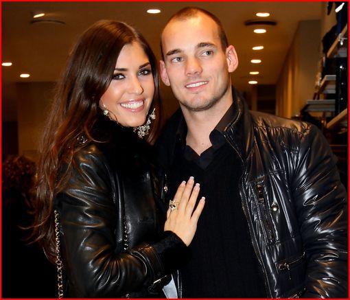 Wesley Sneijder en Yolanthe Cabau