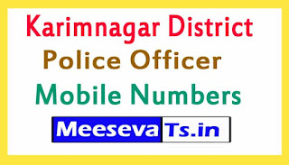 Karimnagar District Police Office Mobile Numbers List in Telangana State