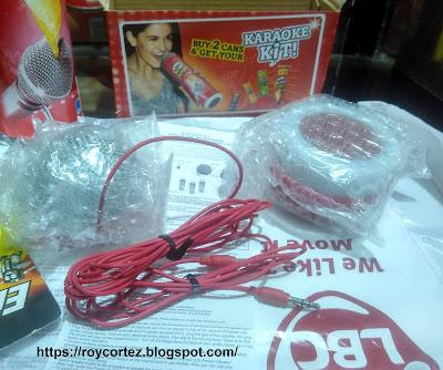 pringles karaoke kit out of the packaging