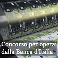 concorso banca d'italia per operai