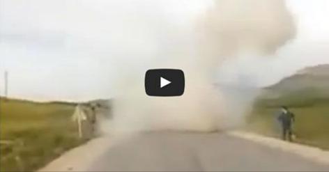 شاهد فيديو للإرهابي الذي فجر نفسه بحزام ناسف بعد مطاردته من قوات الشرطة فيقسنطينة